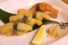 Deep-fried nigiri sushi