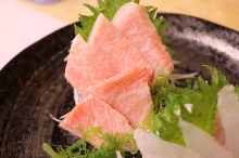 Very fatty bluefin tuna sashimi