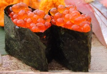 Salmon roe pickled in soy sauce
