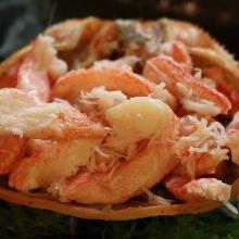 Crab shell roast