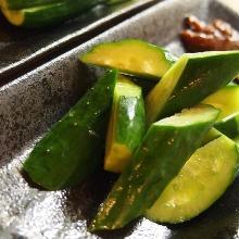 Miso cucumbers