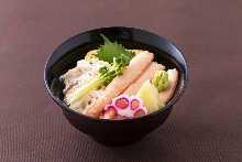Crab chirashizushi