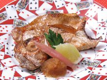 Salt roasted rosy seabass