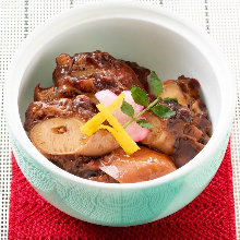 Simmered soft octopus