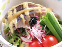 Mackerel with vinegared miso