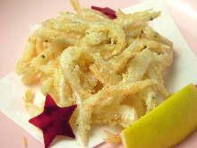 Fried Japanese glass shrimp