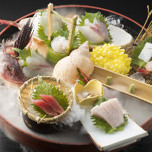 Assorted sashimi, 9 kinds