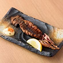 Seared dried-squid