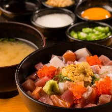 Sticky seafood rice bowl
