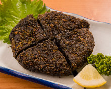 Black minced meat cutlet