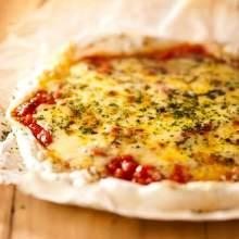 Margherita rice cake pizza
