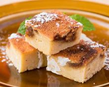 Okara (soy pulp) and nut brownie