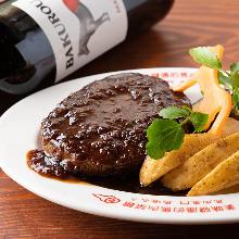 Horse meat hamburg steak