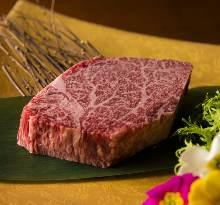 Wagyu beef chateaubriand steak