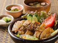 """Pork stamina"" rice bowl"