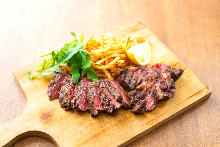 Charcoal grilled beef