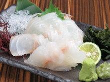 Seabream sashimi