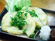 Fried fish paste