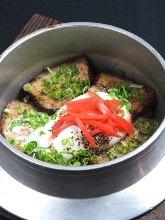 Pork kamameshi (pot rice)