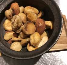 Mixed smoked nuts