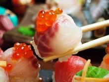 Assorted temari sushi, 5 kinds