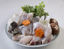 Boiled pufferfish