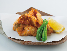 Fried pufferfish skin