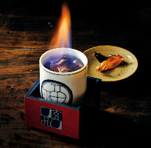 Hirezake (Sake flavored with grilled fish fins)
