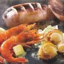 Assorted seafood teppanyaki