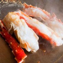 Red king crab teppanyaki
