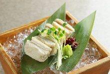 Edible Raw yuba (tofu skin)