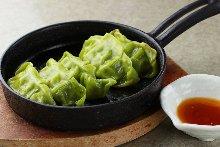 Green leaf gyoza