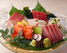 Fresh fish sashimi of the day