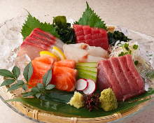 Fresh fish sashimi of the day