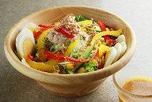 Flower cabbage salad
