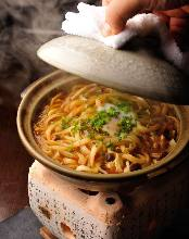 Wheat noodles boiled in miso