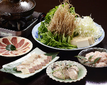 Japanese parsley hot pot (duck or oyster)