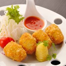 Beef tongue croquette