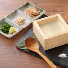 Scooped tofu