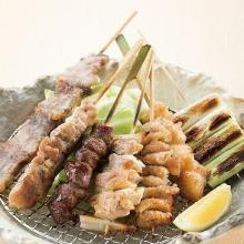Assorted grilled skewers, 7 kinds