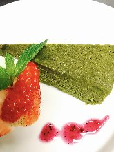 Green tea gateau chocolate