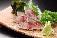 Japanese pickled mackerel sashimi