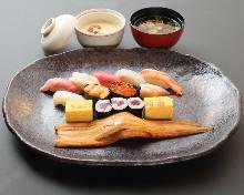 Nigiri sushi of the day
