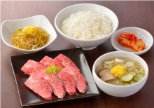 Wagyu beef grilled Kalbi meal set