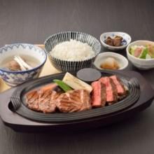 Beef steak set meal