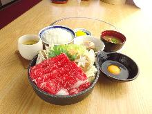 Sukiyaki meal set