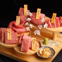 Assorted Wagyu beef, 6 kinds