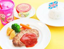 Kids' hamburg steak meal