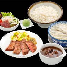 Beef tongue set meal
