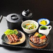 Wagyu beef steak set